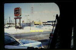 Burger King Arbyand039s Sign Near Gas Station In 1982 Original Slide Aa 1-17a