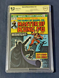 Master Of Kung Fu - Shang Chi - Marvel Special Edition 16 Signed Cbcs 9.2