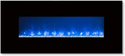 Modern Flames Clx-2 Series Electric Fireplace With Black Glass Front, 80-inch