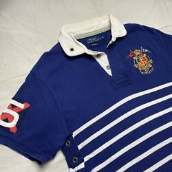 Vintage Ralph Lauren RLYC Polo Men's Large Yacht Club Rugby Shirt $34.95