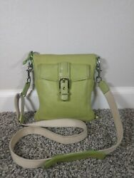 Coach pebbled Leather crossbody canvas strap leather accents $29.99