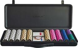 Slowplay Nash 14 Gram Clay Poker Chips Set For Texas Hold'em, 500pcs [with A