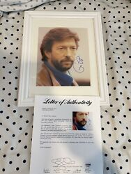 Autographed Eric Clapton Signed 8x10 Framed Photo Psa/dna Certified