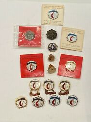 Large Lot Of Religious Pinback Buttons Award Pin Lapel Pins Christian Methodist
