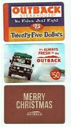 Outback Steakhouse Gift Card Lot Of 3 Diff - Steak Restaurant - Food - No Value