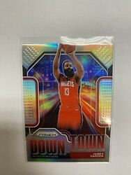 2020-21 Panini Prizm James Harden Silver Refractor Downtown Rockets
