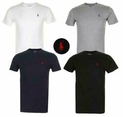 Polo Menand039s T Shirt Crew Neck Slim Fit Short Sleeve Logo Tee