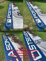 Josh Hader 36 Ft X 9 Ft Miller Park Used Banner 2018 Nlcs Milwaukee Brewers