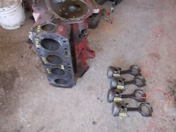 Ford Naa Tractor Gas Engine Motor Block W/ Pistons Sleeves Rods Caps And Main Caps