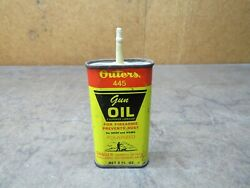 Vintage Outers 445 Gun Cleaning Firearm Oil Can Advertising Hunting 3 Oz