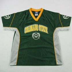 Colorado State Rams Jersey Youth Football 12-14 Vintage Green Csu Fort Collins