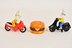 3 Pc. 1980-90s Mcdonalds Happy Meal Mac Tonight Happy Meal Toy Set Moon And Burger