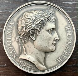 Medal Silver Napoleon I - The Year Xiii - Le Senate And Le People 1 5/8in