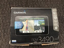 Garmin Nuvi 3490 Lmt Gps Unit And Traffic Receiver In Box. Updated Bundle