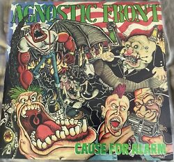 Agnostic Front Cause for Alarm LP 1986 Relativity Records Third Pressing
