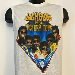 The Jacksons Victory Tour 1984 Officially Licensed Tank Top Size Medium 1