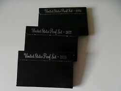 Lot Of 3 Us Mint Proof Sets - 197677 And 78