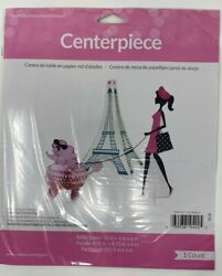 HAPPY BIRTHDAY Brand New Party in Paris Centerpiece Fast Ship from CA
