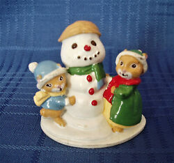Vintage Avon Forest Friends, Snowfall Friends Snowman And 2 Mice 1 3/4
