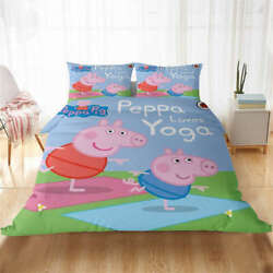 Wonderful George And Page Jump 3d Quilt Duvet Doona Cover Set Pillow Case Print