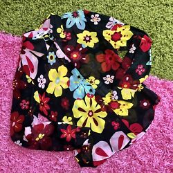 Vintage Moschino Floral Button Up Blouse $35.00