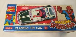 Schylling Classic Tin Car The Amazing Spider Man 2006 Friction Brand New