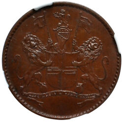 St.helena 1/2 Penny 1821 Ngc Ms62 British East Indian Company