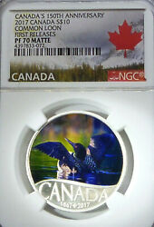 Highest Grade Ngc Pf70 Canada 2017 10 Common Loon First Releases