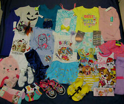 Nwt Toddler Girl 's Clothes Lot 4t 32p Paw Patrol Skye Pug Dog Summer Winter New