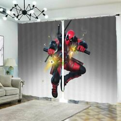 Fire Up Spiderman 3d Blockout Photo Print Curtain Fabric Curtains Window