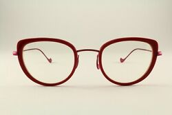 Rare Authentic Caroline Abram Winona 611 Pink Red 48mm Frames Glasses Rx-able