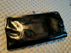 HOBO International LAUREN Patent Leather Clutch Wallet Checkbook Bifold Magnetic $50.00
