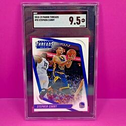 2018 Panini Threads Stephen Curry 95 Sgc 9.5 Mint Golden State Warriors