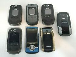Qty. 7 Used Cell Phones, Older Samsung, Lg, Verizon, Clean Condition, Free Ship