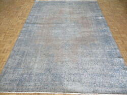 9and0398 X 13and0397 Hand Knotted White Wash Vintage Turkish Overdyed Oriental Rug G10366