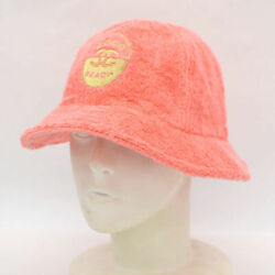 AUTH CHANEL BUCKET HAT PILE COTTON PINK SIZE:M BEACH COCO MARK CC LOGO F S $947.85