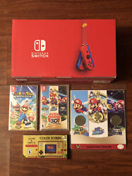 Nintendo Switch Mario Red And Blue 35th Anniv Spcl Bundle Super Mario 3d All-stars