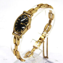 Wristwatch Mical 750 Used Womenand039s Analog Pure Gold Antique Dress Manual