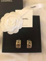 Very Rare Earrings Smoked Gold Plating For Woman Unused Nice