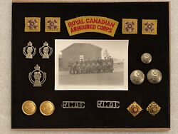 Ww2 Canada Canadian Armed Forces Armoured Corps Pins Buttons Badges Photo Wwii