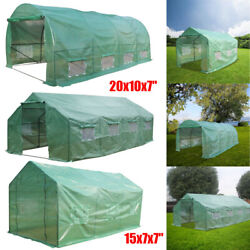 Portable Steel Green House Larger Walk-in Outdoor Plant Gardening Hot Greenhouse