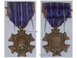 France Ww1 Civic Services Cross Military Civil Medal 1914 1918 French Decoration