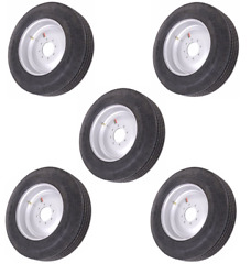 Set Of 5 17.5 16 Ply Radial Trailer Tire And Solid Wheel - St 215/75r17.5 8 Lug