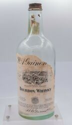 Prohibition Era W.a.gaines And Co. Old Crow Distillery Bib Bourbon Whiskey Bottle