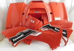 2012-2016 Kawasaki Brute Force Kvf 300 Front Rear Fender Set + Side Covers Red