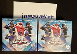 2020 Topps Chrome Update Series Sapphire Edition Sealed Lot Of 2 Boxes In Hand