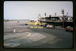 1964 Tokyo Japan Airport Scene And Jal Airlines Aircraft Original Slide C11a