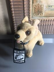 Taco Bell Wanted Chalupa Sign Chihuahua Dog Talking Plush 1998 Works Rare