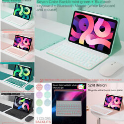 Bluetooth Keyboard Mouse Case Cover For Ipad 7th 8th Gen 10.2 Air 3rd 4th Pro 11