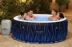 Bestway Hollywood 77 X 26 Airjet Inflatable Hot Tub Spa 4-person Led Lights